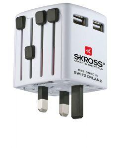 Αντάπτορας Ταξιδιού Skross World USB | www.lightgear.gr