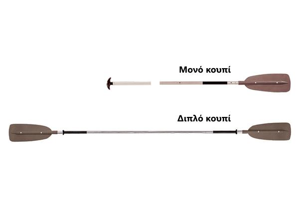 Μονό και διπλό κουπί για κανό και για καγιάκ αντίστοιχα | www.lightgear.gr