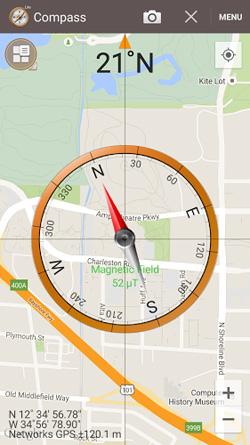 Η πυξίδα μπορεί να εμφανίζεται πάνω στο χάρτη στο σημείο που βρίσκεστε. Χρήσιμο!| www.lightgear.gr
