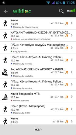 2. Με βάση τα χαρακτηριστικά που επιλέξατε το Wikiloc σας προτείνει τις διαδρομές που σας ενδιαφέρουν | www.lightgear.gr