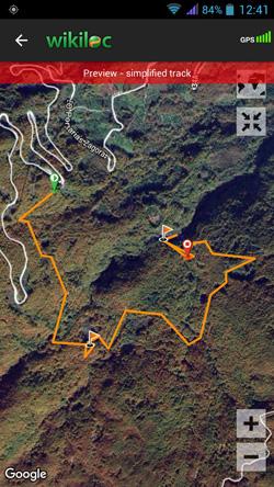 4. Δείτε τη διαδρομή που επιλέξατε πάνω στον ανάγλυφο χάρτη του Google Maps | www.lightgear.gr