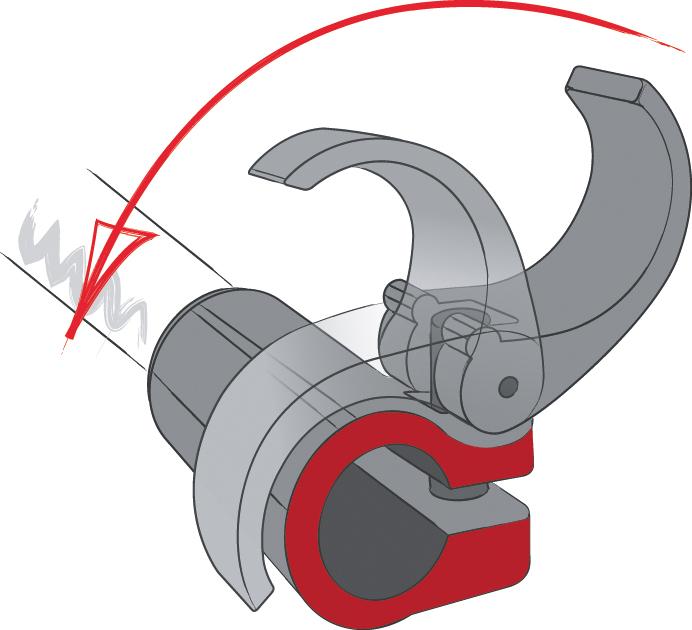 Μηχανισμός ασφάλισης μπατόν πεζοπορίας Komperdell Powerlock | www.lightgear.gr